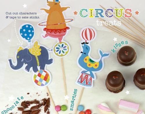 Imprimibles para fiestas infantiles temática circo