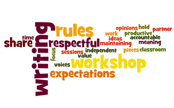 Writers workshop ideas