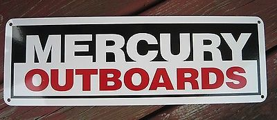 Mercury Marine Outboard Motor SIGN Mechanic Marina Shop Bass Boat Repair Ad 7day