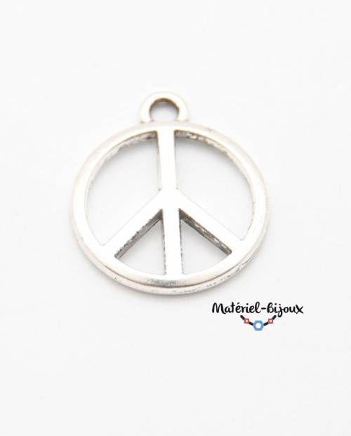 grande breloque ronde thème peace and love