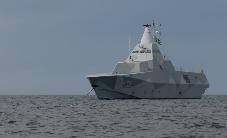 A Swedish Navy Visby-class, guided missile corvette. Swedish Navy Photo