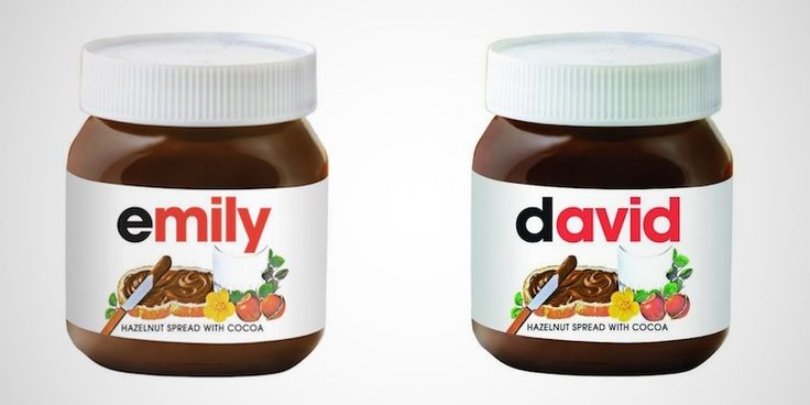 Personalize a Nutella Jar With Your Name On It