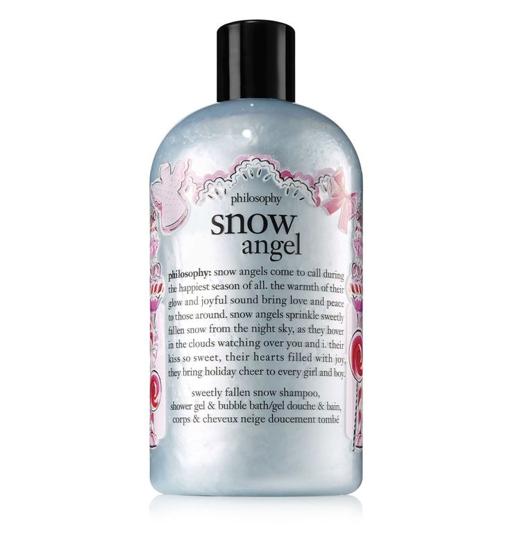 the sweetly fallen snow scent and pearlized shimmer of philosophy's snow angel shower gel capture the joy of a fresh snowfall to bring you holiday cheer.