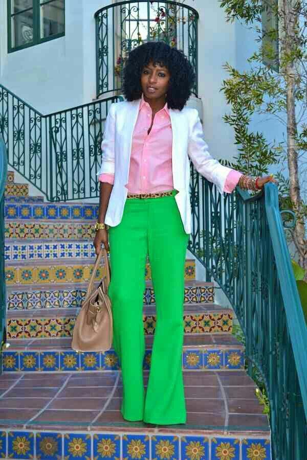 Pink & green. Animal print belt