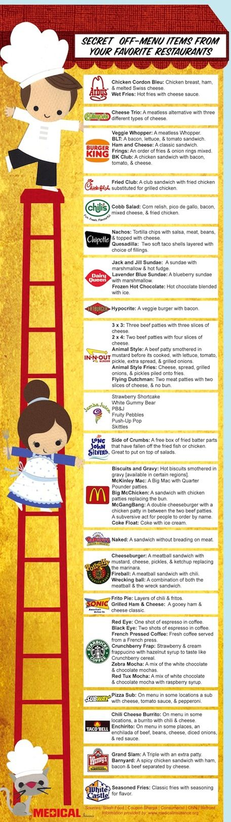 Secret Off-Menu Items From Your Favorite Restaurants [INFOGRAPHIC]