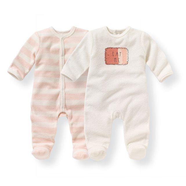 Pyjama naissance éponge 0 mois-3 ans (lot de 2)