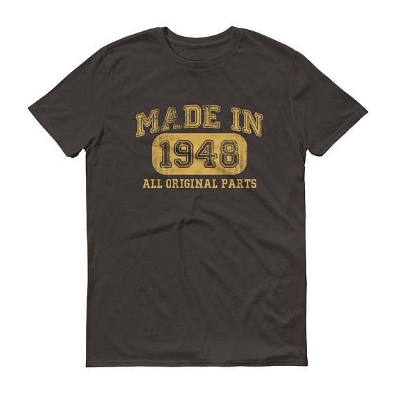 1948 Birthday Gift Vintage Born In T Shirt For Men 70th Him Made 70 Year Old BirthdayGift