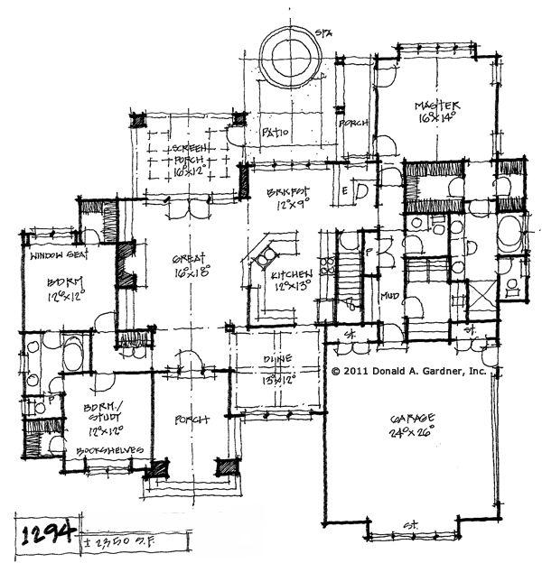 Top jack and jill bathroom floorplans with room on the for Ranch house plans with jack and jill bathroom