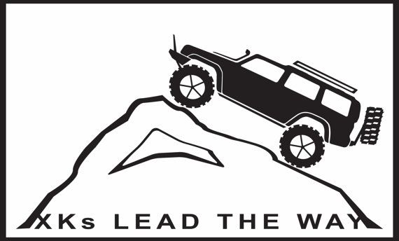 XKs Lead The Way Jeep Commander XK Decal. by OldBomberSupplyCo