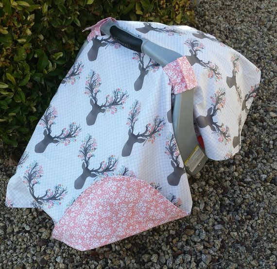 Baby Car Seat Canopy Baby Car Seat Cover Pink by KadydidDesigns