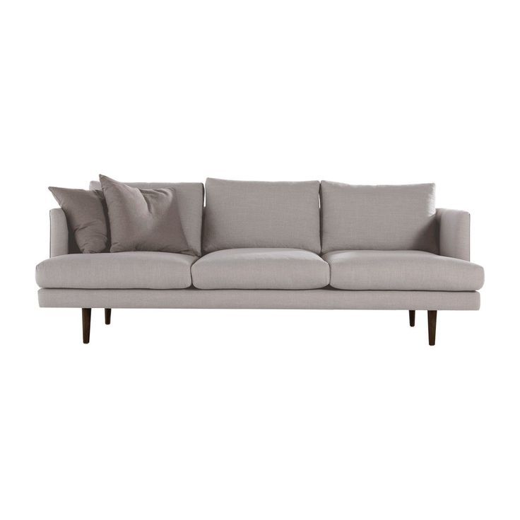 Shop Contemporary Sofas Online or Visit Our Showrooms To Get Inspired With The Latest Furniture From Life Interiors - Carl 3 Seater Fabric Sofa (Light Grey)
