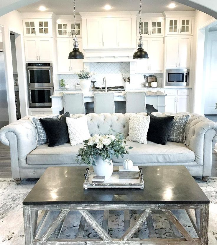 Could We Do This In Our Kitchen COTE DE TEXAS Interior Design Great Example Of A Small Open Space Living Room All Looking Harmonious And