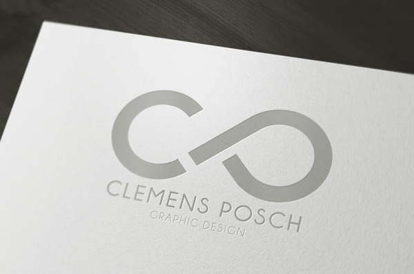 Clemens Posch Graphic Design Personal Logo. Very nice clean design. Representational but also nicely abstracted