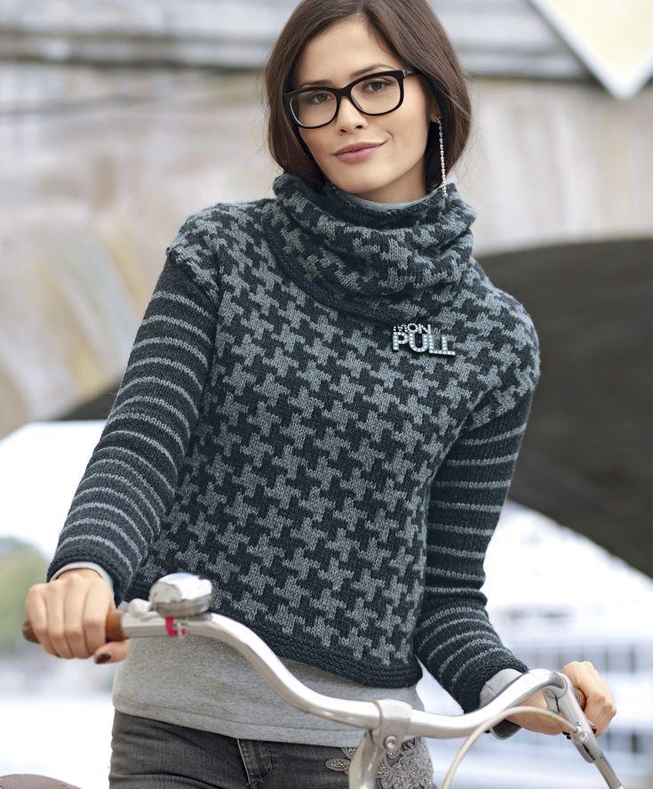 Джемпер со съемным воротником - схема вязания спицами. Вяжем Джемперы на Verena.ru