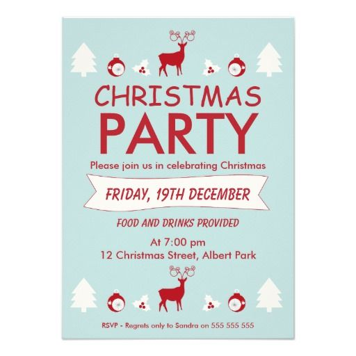 275 best christmas party invitations images on pinterest red and blue christmas party invitation stopboris Image collections
