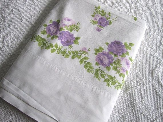 Shabby chic Vintage Floral Full Sheet by Therobinandsparrow, $22.00