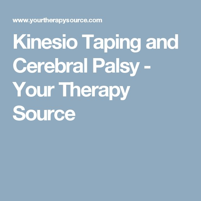 Kinesio Taping and Cerebral Palsy - Your Therapy Source