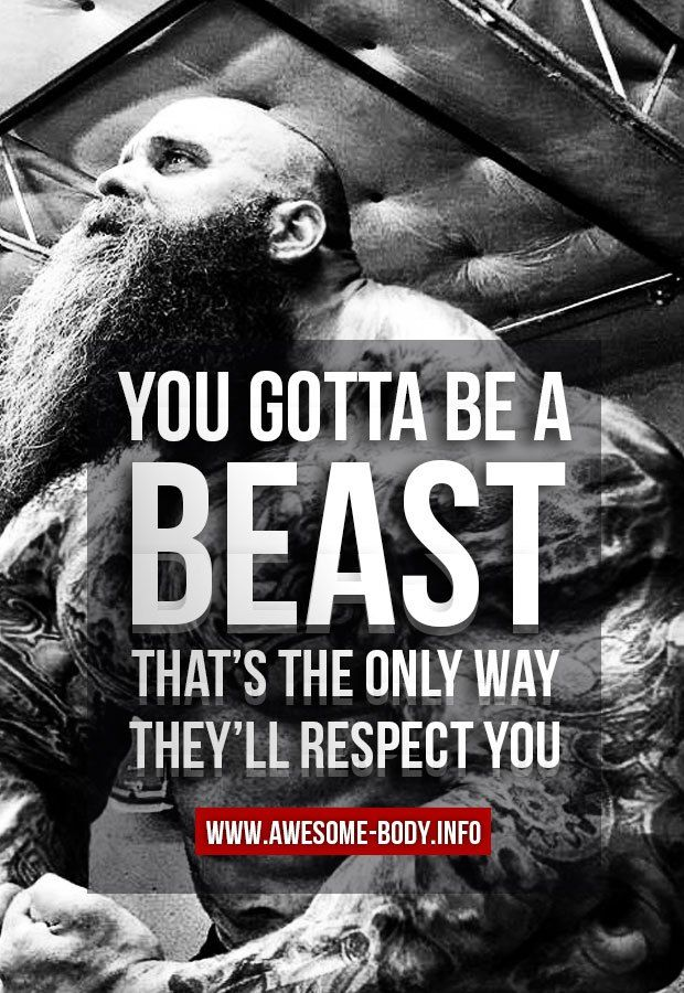 Be a beast | Bodybuilding motivational quotes