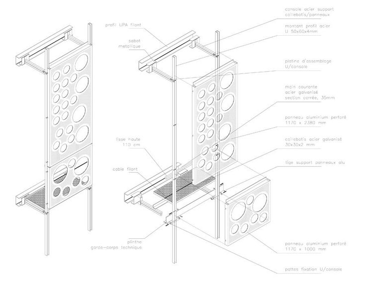 Metal Panel Details : Perforated metal cladding details imgkid the