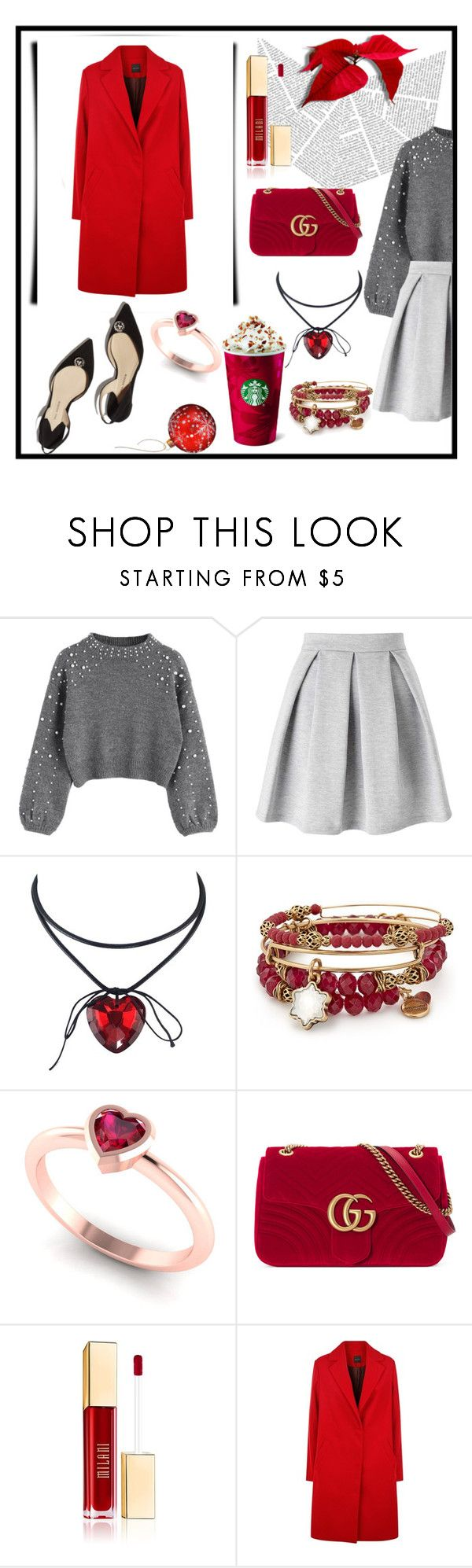 """""""073"""" by holography ❤ liked on Polyvore featuring Paul Andrew, Miss Selfridge, Alex and Ani and Gucci"""