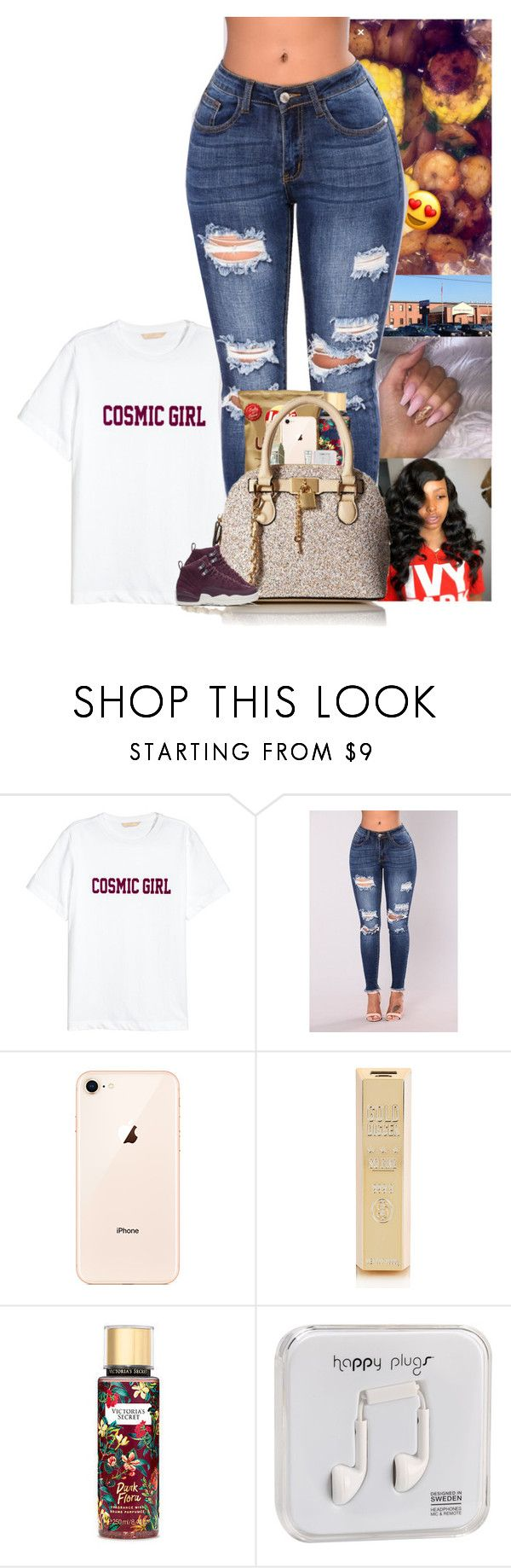 """"" by blackineseprincesse ❤ liked on Polyvore featuring Victoria's Secret, Happy Plugs, M.A.C, ALDO and NIKE"