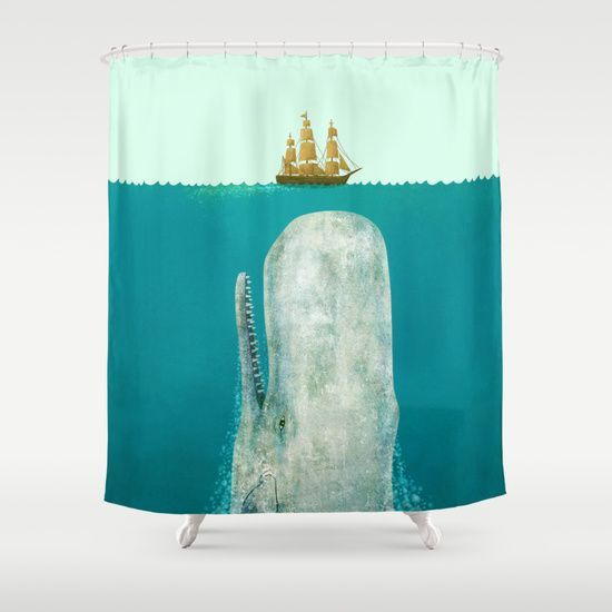 The Whale Bathroom Shower Curtain Unique