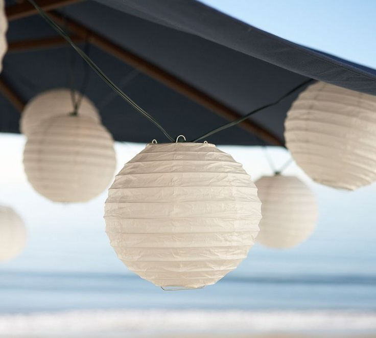 Appealing Outdoor Light With Hanging String : White Chinese Lampion Outdoor  Patio Hanging String Lights