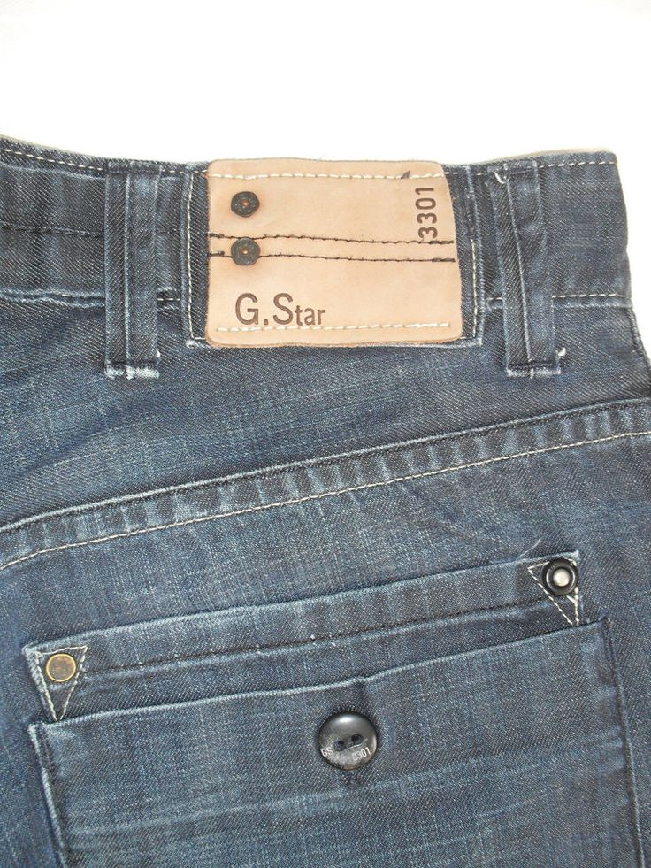 G.STAR RAW BLUE MEN'S JEANS SIZE32 #GSTAR #Relaxed