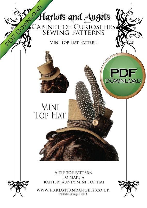PDF instant download Mini Top Hat Millinery by Harlotsandangels