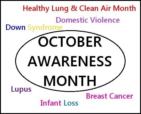 National October Month | October Awareness Month is here!