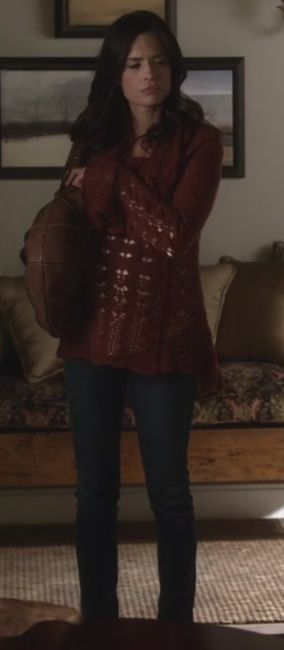 Melissa Hastings and Free People Cool Grace Cable Pullover Sweater Photograph