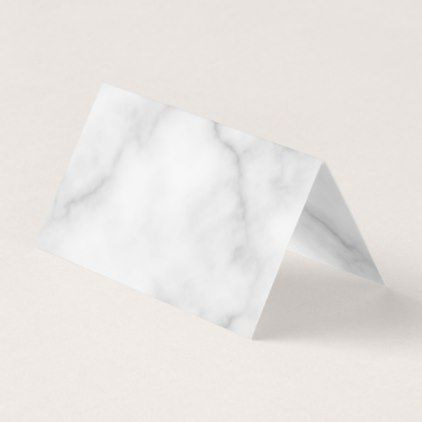 Elegant Blank White Marble Wedding Place Card - marble gifts style stylish nature unique personalize