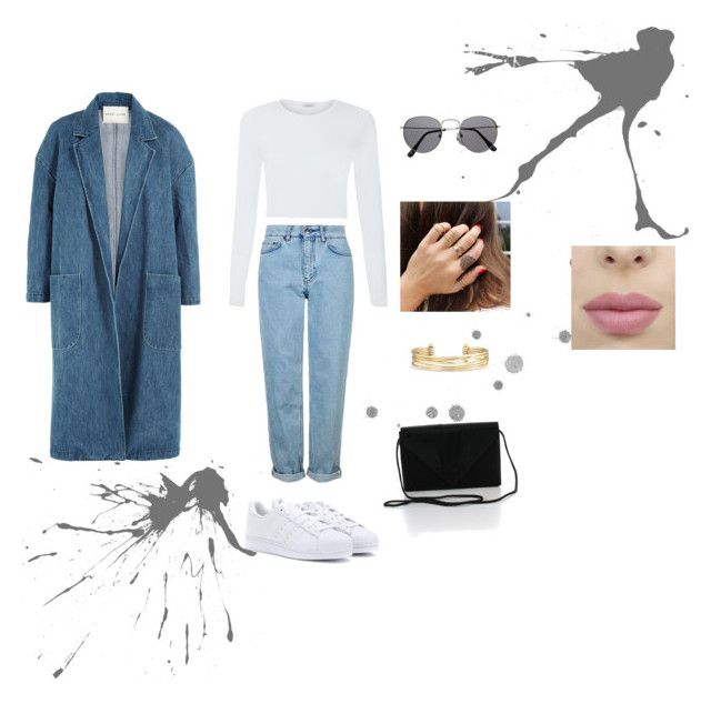 """that Denim"" by aasti3638 on Polyvore featuring Sandy Liang, adidas, Topshop and Stella & Dot"