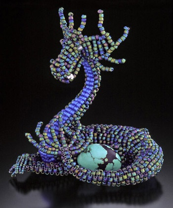 Kali Butterfly - Beaded Sculpture and Award-Winning Bead Embroidery by Vanessa Walilko