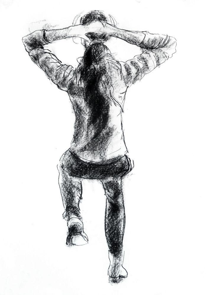 Jean Chiodi. Carvão s/ papel, 59,4 x 42 cm