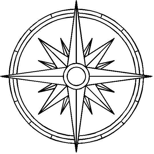 Compass Tattoo Line Drawing : Outline clean legend compass tattoo design ideas