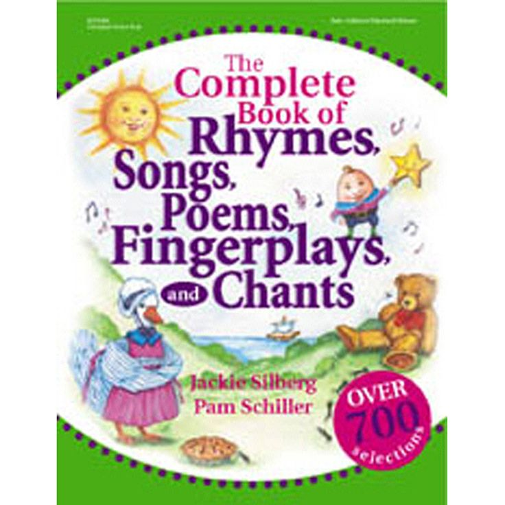 Here are over 700 favorite rhymes, songs, poems, fingerplays, and chants for children ages three to six. These include all of the old favorites that are on the tip of your tongue, but you can't quite