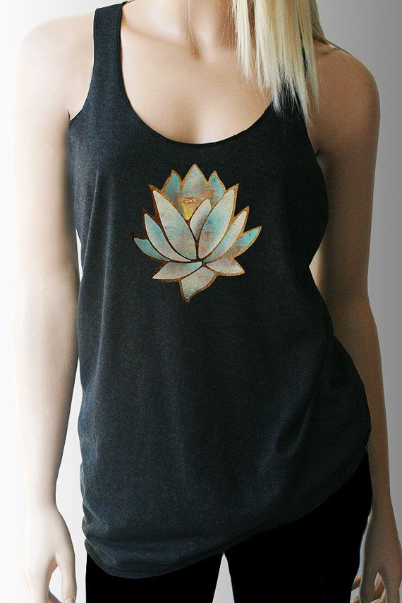 Hey, I found this really awesome Etsy listing at https://www.etsy.com/listing/219085785/blue-lotus-yoga-tank-yoga-shirt-yoga-top