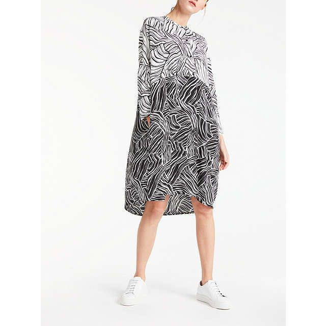 BuyKin by John Lewis Linear Print Dress, Black, 8 Online at johnlewis.com
