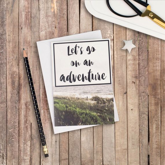 Let's Go On An Adventure A6 Izzy & Pop Card - Travel Quotes - Adventure Cards - Friendship Cards - Card for Him - Card for Her