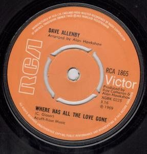 Dave Allenby - Where Has All The Love Gone   £4.99