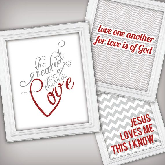 Christian Valentines Day Printable Art Valentines Day