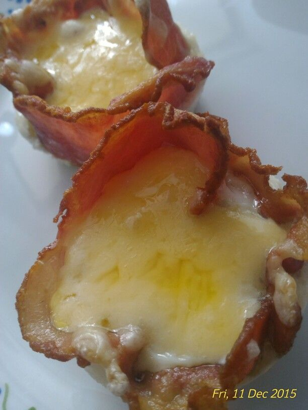 Cheese bacon and egg muffin. By him!