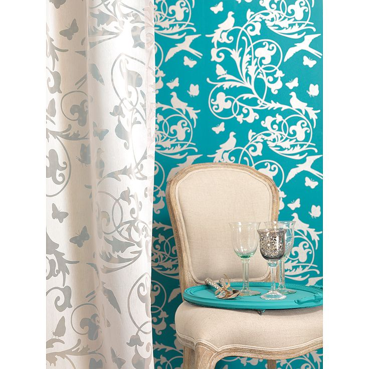 turquoise - want the wallpaper in a fabric!