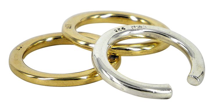 Three Stack - yellow-gold-and-silver stackable ring