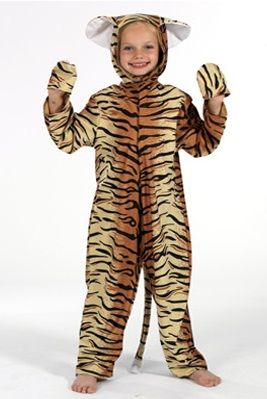 Tiger Lite Costume, childrens tiger costume, childs tiger fancy dress costume