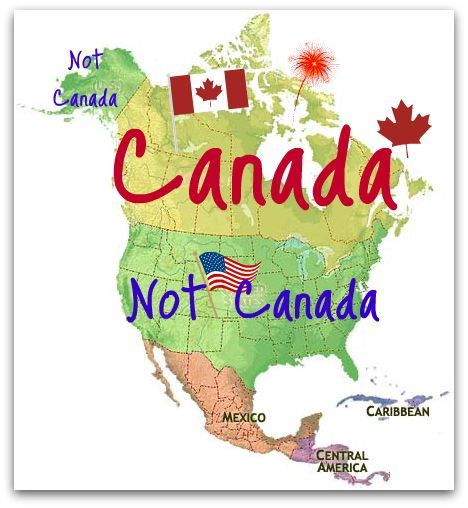 Lol Map of Canada and Not Canada.