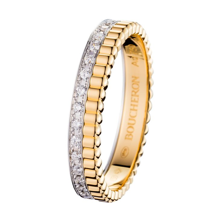 Wedding band Quatre Lumière, a Maison Boucheron Jewelry creation. A Boucheron creation tells a Story, that of the Maison and your own.