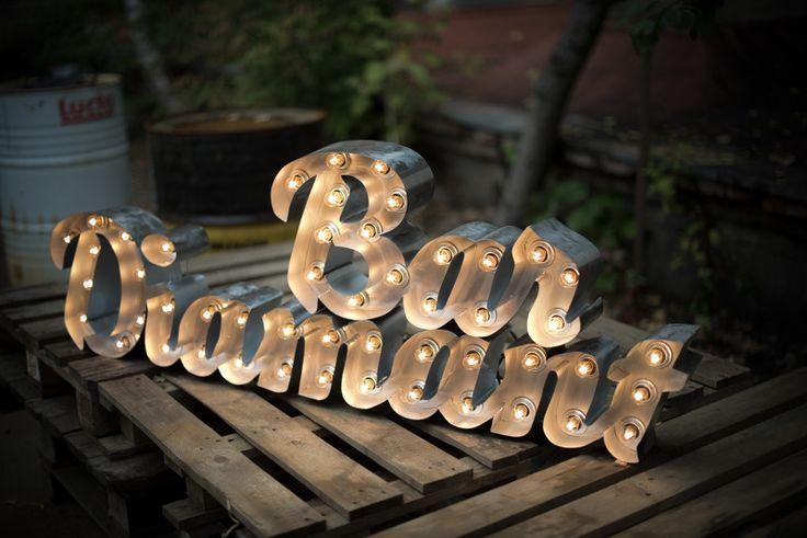 Проекты - RetroBlock винтажные буквы светильники из стали с лампами накаливания