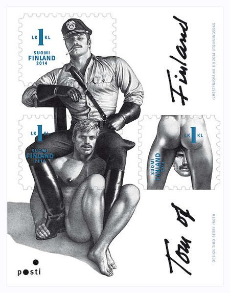 Finland to offer Tom of Finland gay bondage art stamps